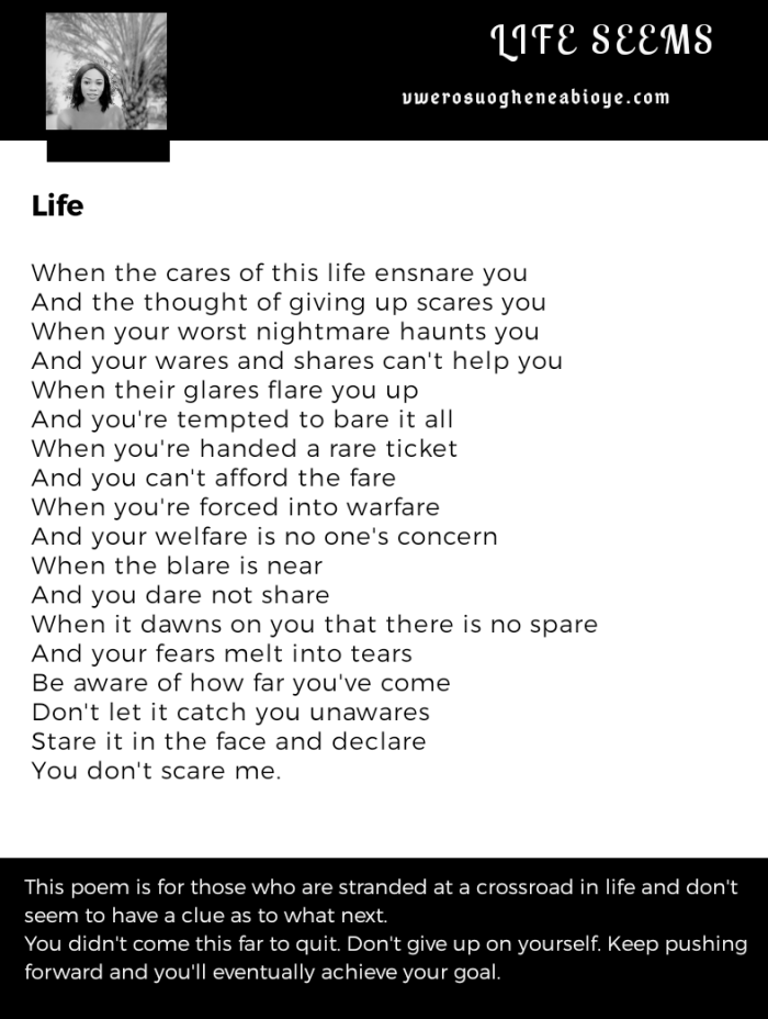 Poem: The cares of Life