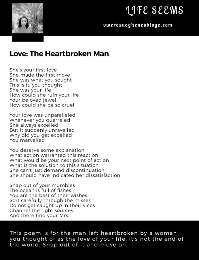 Poem: The Heartbroken Man, love