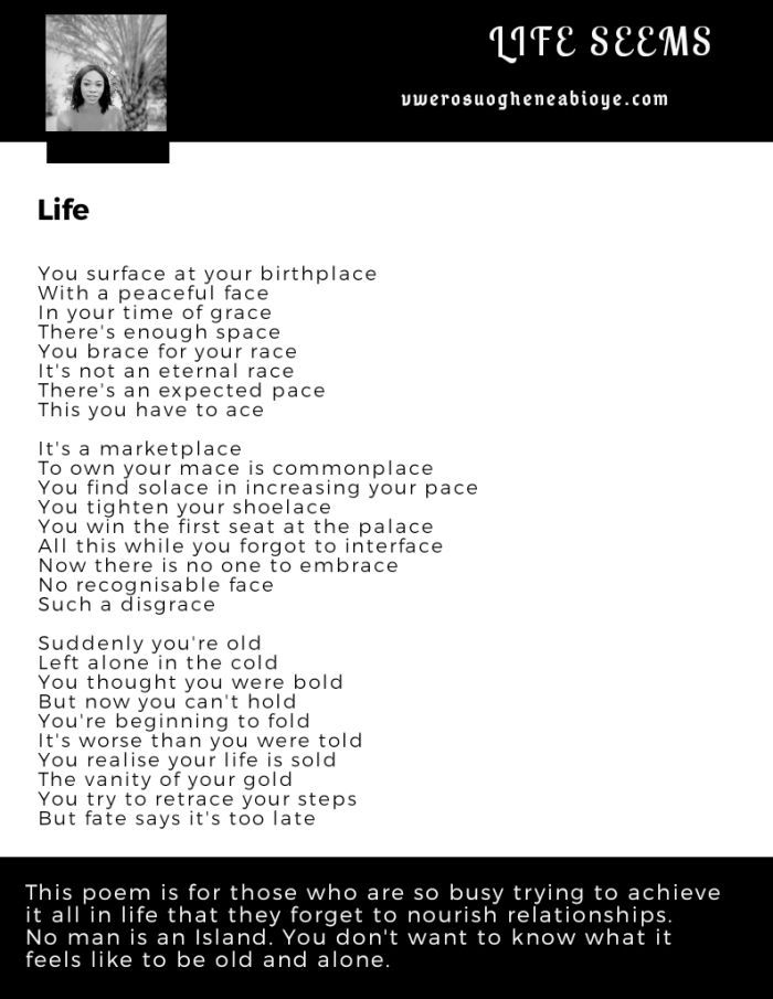 Poem: Your Place in Life