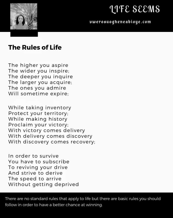 Poem: The Rules of Life
