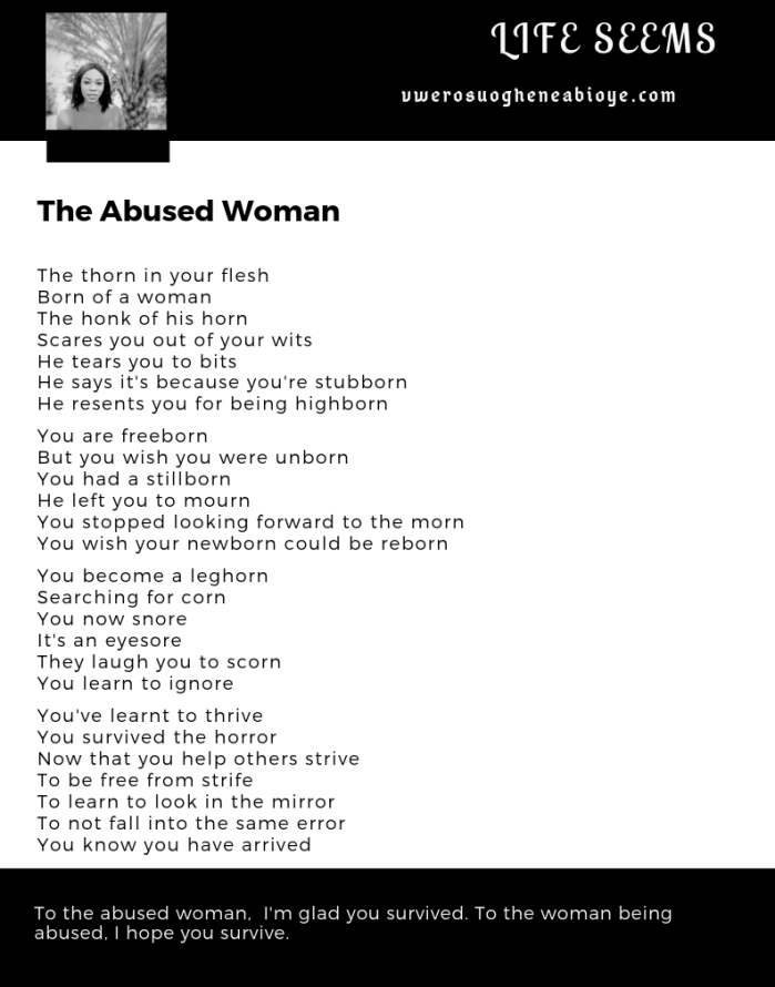 Poem: The Abused Woman