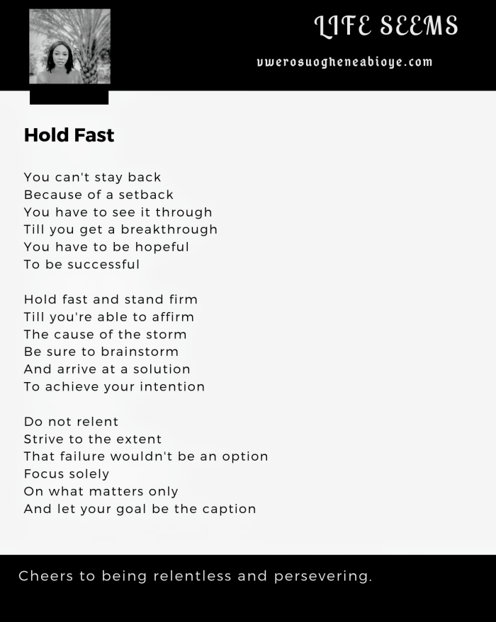 Poem: Hold Fast
