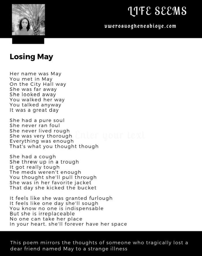 Poem: Losing May