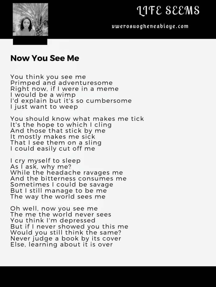 Poem: Now You See Me