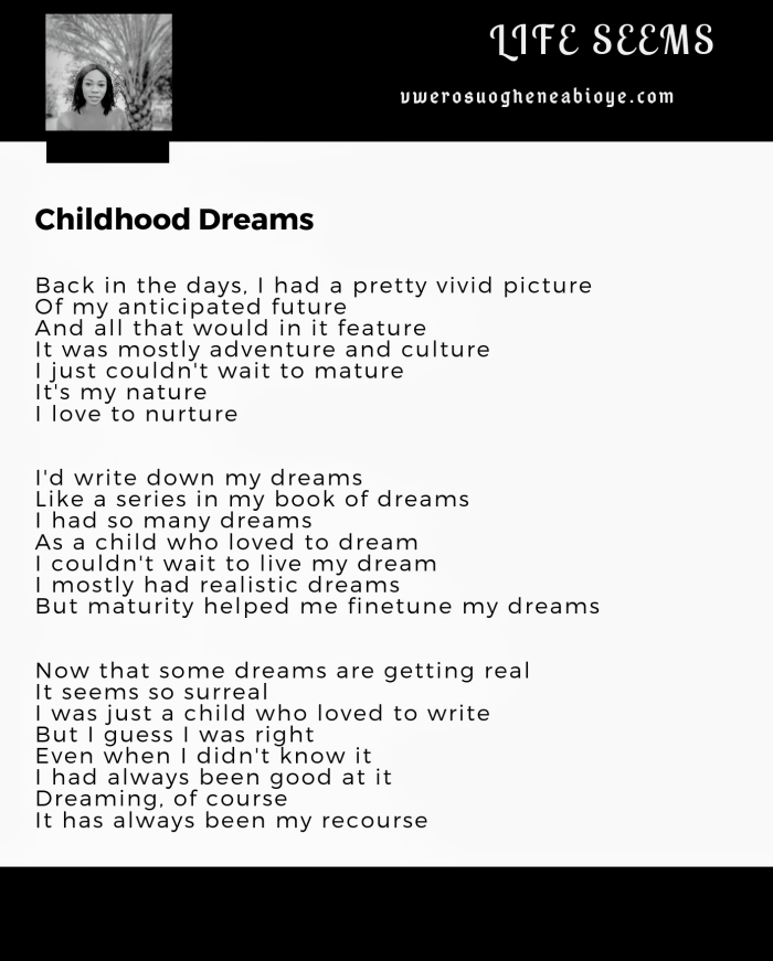 Poem: Childhood Dreams