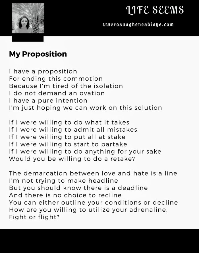 Poem: My Proposition