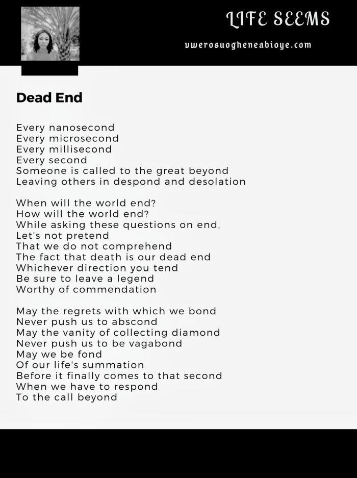 Poem: Dead End