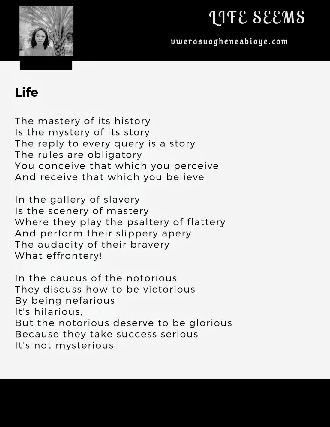 Poem: Life 010