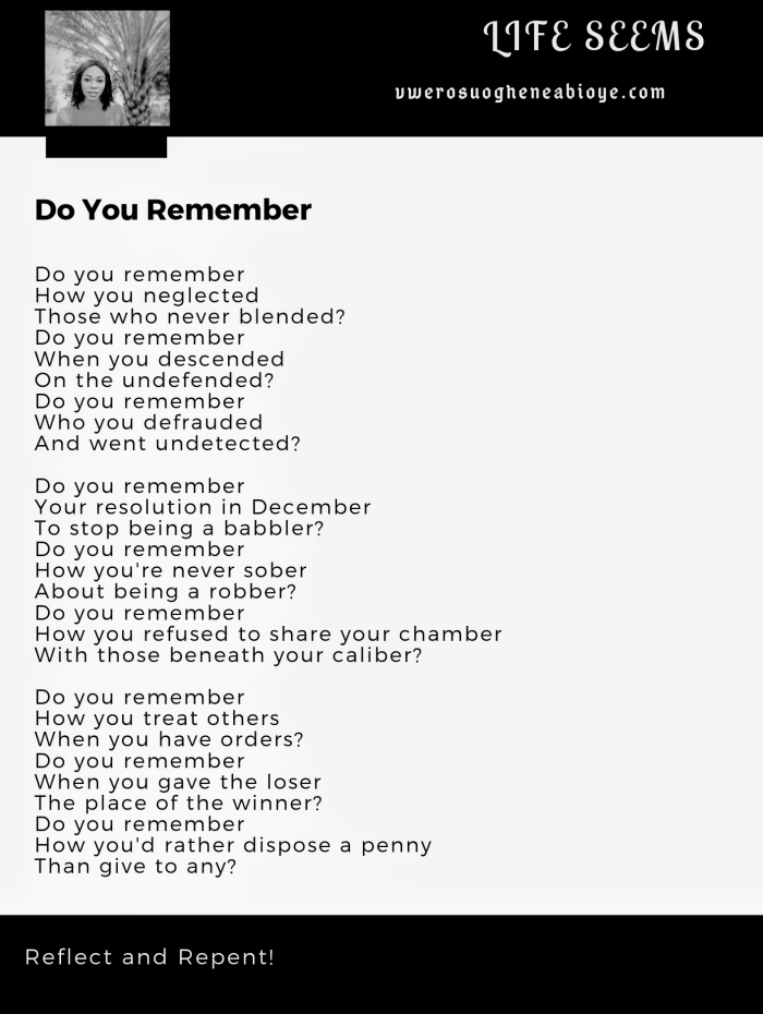 Poem: Do You Remember
