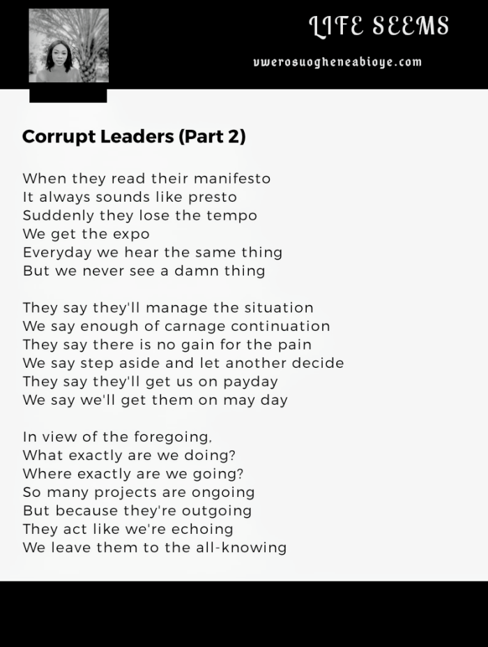 Poem: Corrupt Leaders (Part 2)