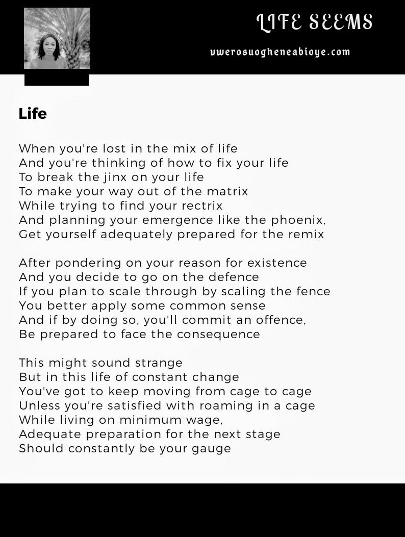 Poem: Life 011