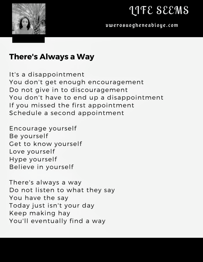 Poem: There's always a way