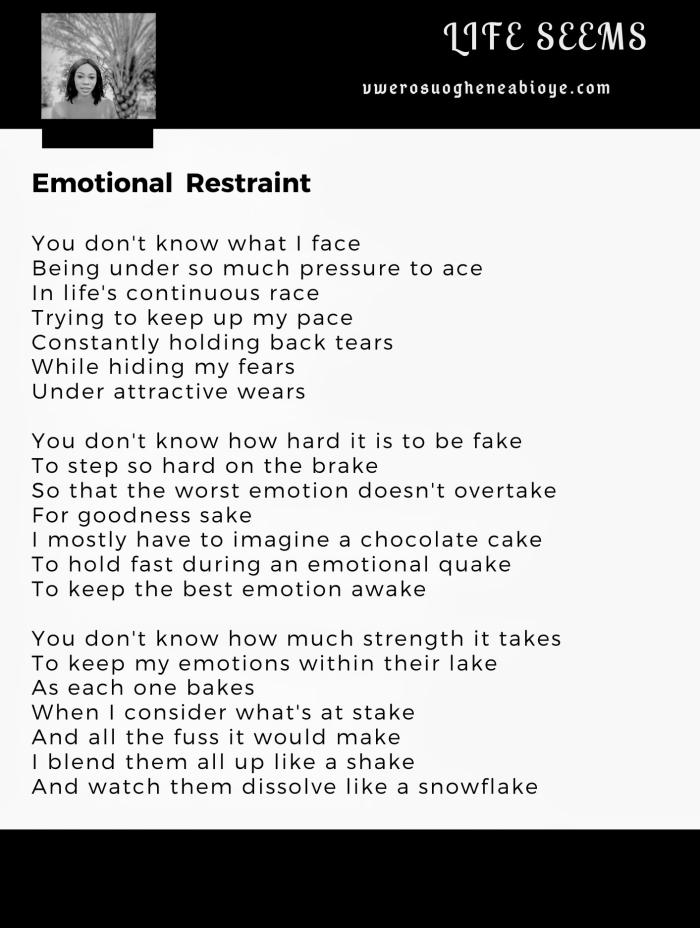 Poem: Emotional Restraint