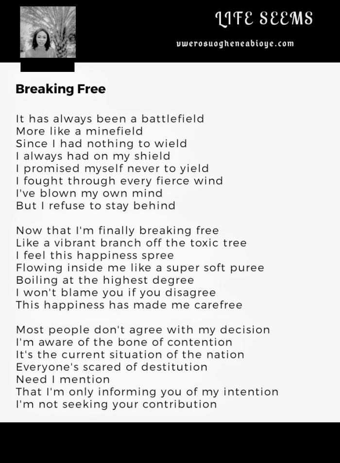 Poem: Breaking Free