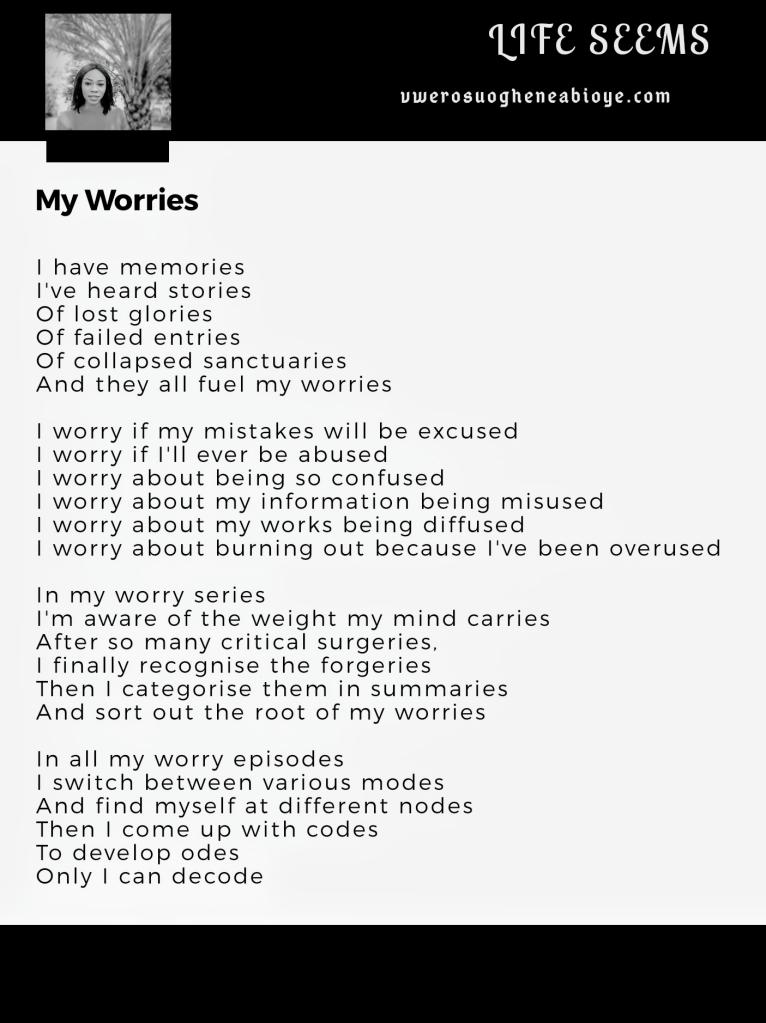 Poem: My Worries